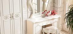 欧式梳妆台摆放技巧展示,摆在哪最好呢?
