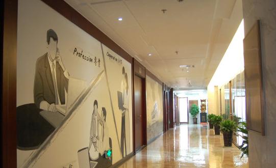 壁画绘出走廊之唯美