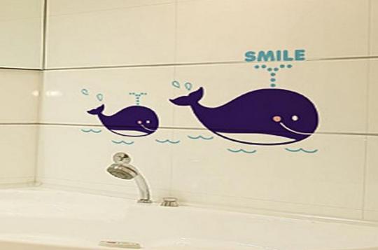 卫生间墙贴效果图
