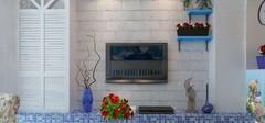 地中海风格的电视背景墙设计