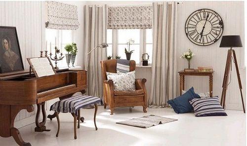 北欧风格客厅窗帘之材质选择