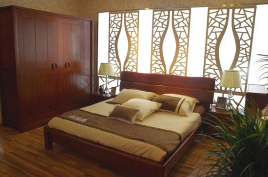 中式风格的实木床