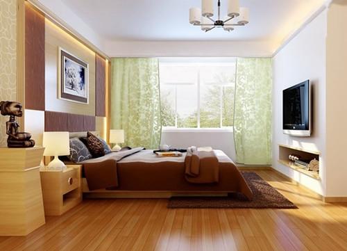 看复合木地板表面的颜色