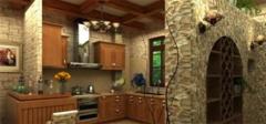 霸气十足的欧式厨房装修效果图