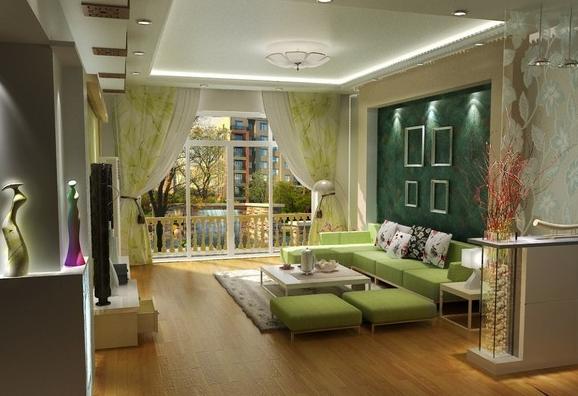 客厅风水装饰图