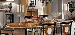 欧式风格餐桌欣赏,赏别样的色彩设计!