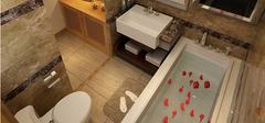 5款创意型卫生间装修效果图 设计感空间十足