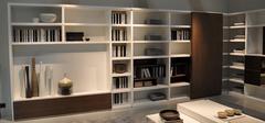 书房装修中有哪些流行书柜?书柜效果图欣赏
