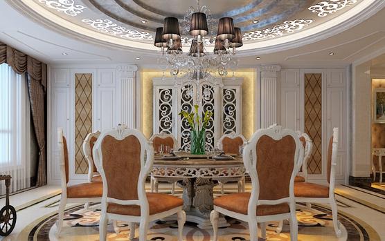 欧式风格餐桌设计