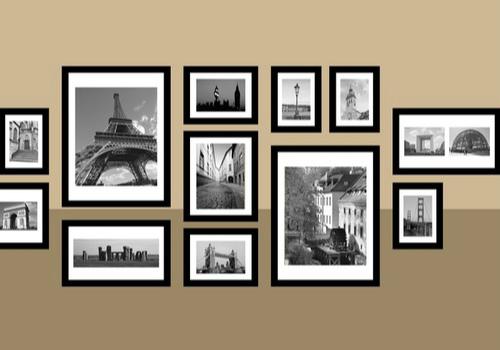 照片墙装饰效果图