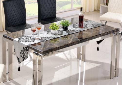 大理石餐桌效果图
