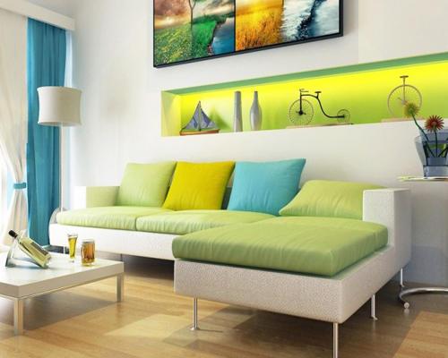 小户型客厅沙发布置特点