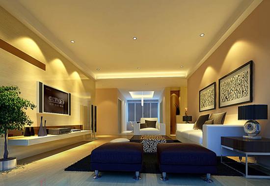 客厅中的家具要有靠