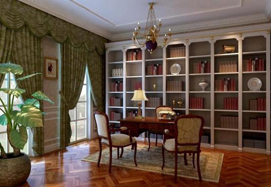 书房墙面颜色一:绿色