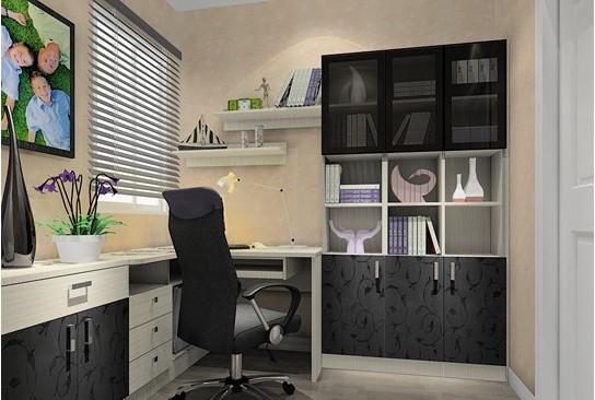 书房墙面颜色五:黑白
