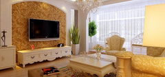 简欧客厅装修效果图,营造温馨家居!