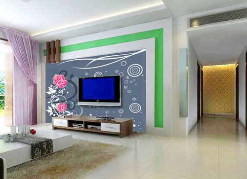 客厅背景墙墙纸