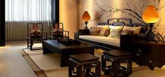 中式客厅装修效果图,时尚高贵!