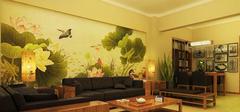 客厅手绘墙,时尚个性!