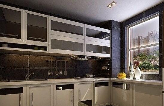 厨房吊顶装修效果图2:欧式做旧设计-厨房吊顶装修效果图,厨房新天地