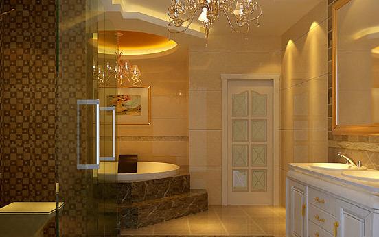 华丽的欧式浴室柜