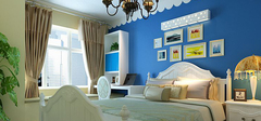 卧室背景墙装修 清爽温馨