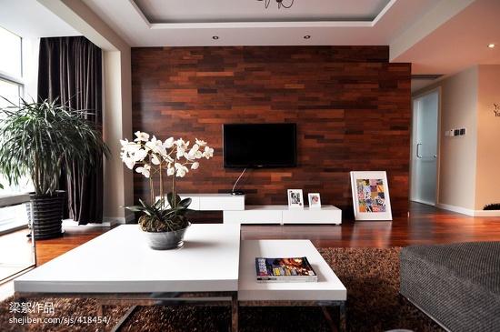 木地板背景墙墙颜色风格的确定