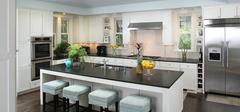 开放式厨房装修效果,享受奢华感!