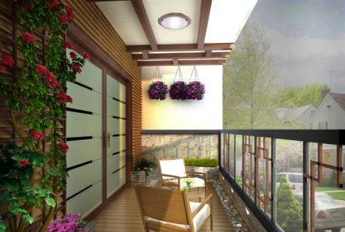 阳台装修吊顶图