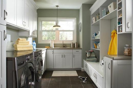 如何布置洗衣房