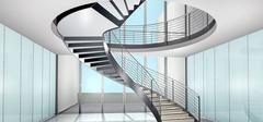 旋转楼梯设计,时尚节省空间!