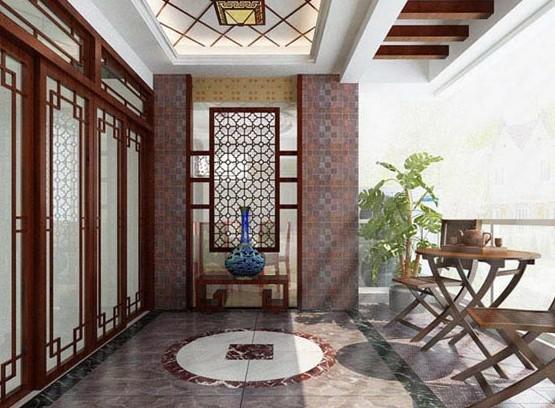 中式阳台设计