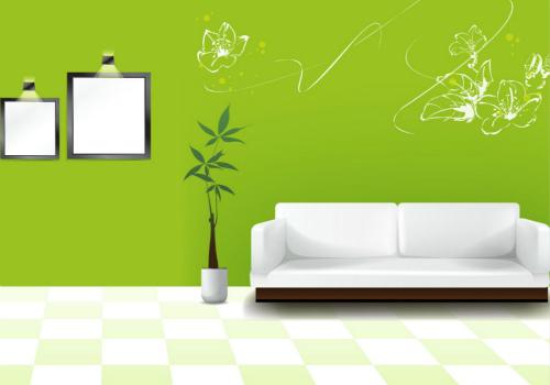 家用壁纸效果图