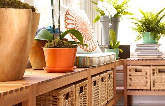 阳台柜子可以选用和橱柜一样的材料