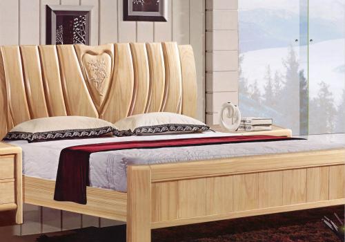 松木床效果图