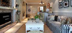 不同田园风格客厅 装修不同缤纷浪漫