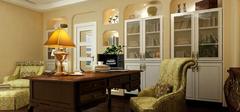 书房之地中海风格装修 给您带来舒适淡然感