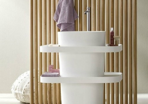 卫生间洗脸盆效果图