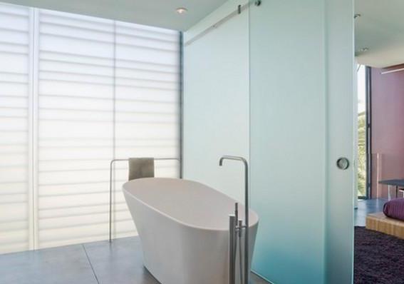 浴室玻璃门清理