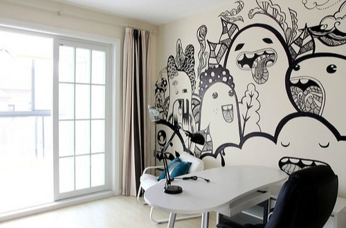 手绘墙装饰效果图