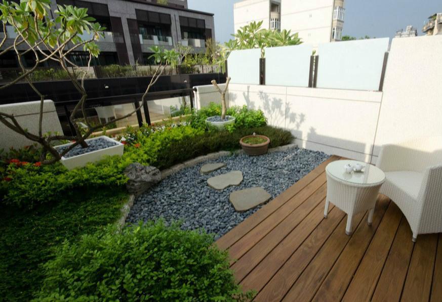 露台建设花园的时候,必须考虑建筑物和人员的安全,包括结构承重和屋顶