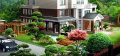 别墅庭院设计,舒适功能设计!