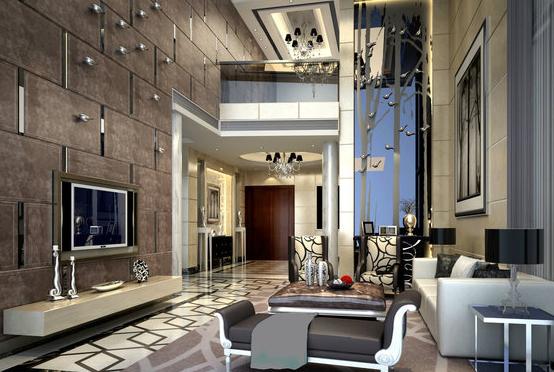 欧式别墅客厅装修效果