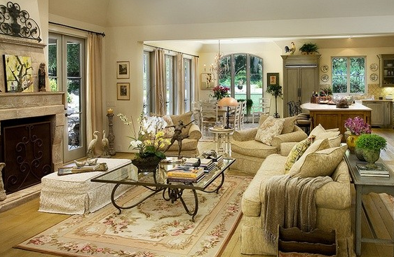 美式田园风格客厅装修