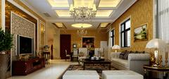 欧式别墅客厅装修效果,尽善至美!