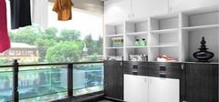 阳台储物柜该如何设计