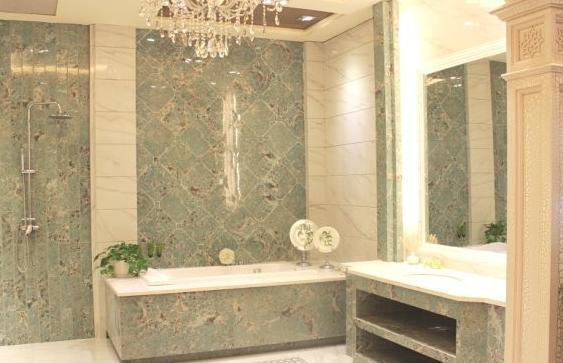 卫生间大理石瓷砖装修