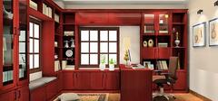 书房装修之背景墙禁忌红色