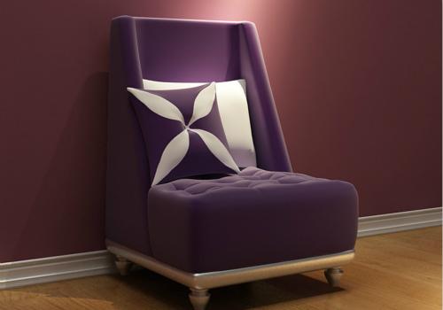 单人沙发效果图