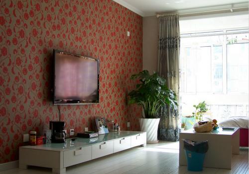 电视背景墙壁纸效果图